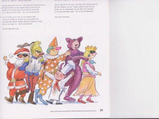 Årets danske børnesange (school book)